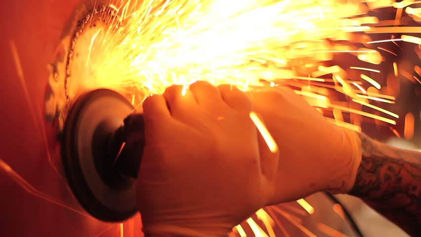 Auto Restoration - Flying Sparks in Slow Motion