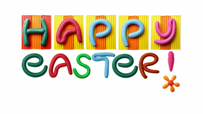 HD animated text Happy Easter!