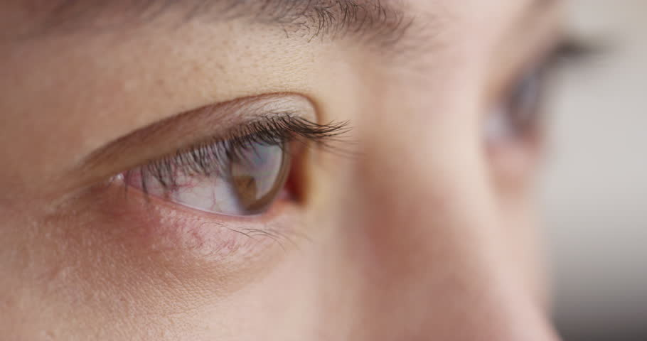 Closeup of Chinese woman's eyes