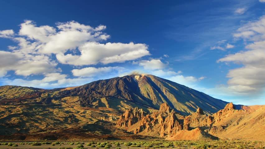 Mountains  landscape. Teide volcano, Tenerife, Canary islands, Spain, time-lapse | Shutterstock HD Video #6896689