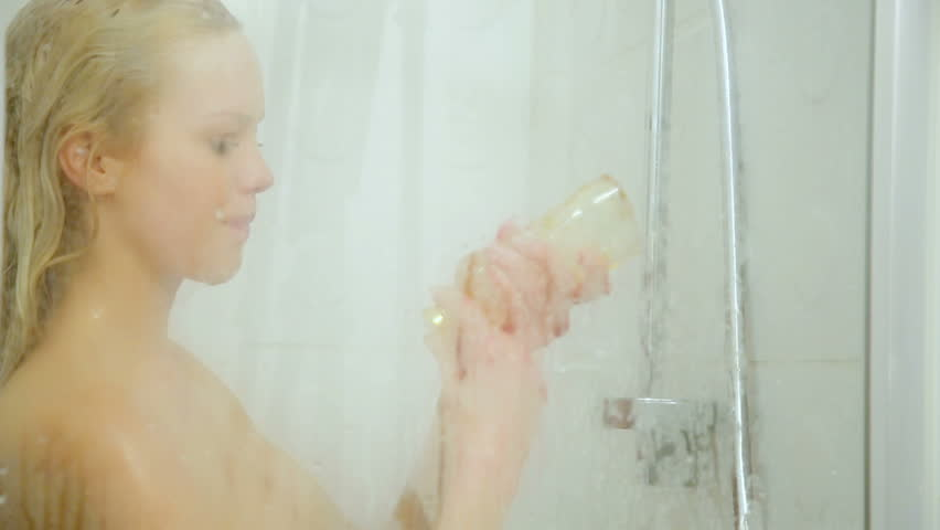 Sexy woman in the shower video