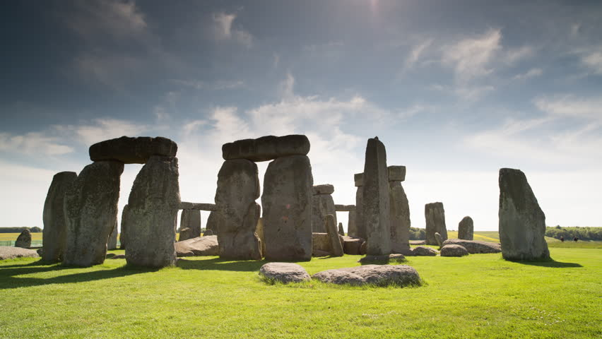 4k the iconic and world famous stone henge monolithic site in wiltshire, england