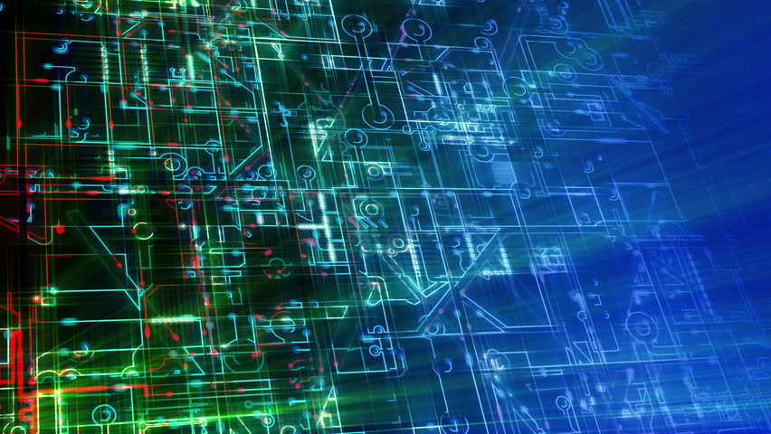 abstract electronic circuits loop technology stock footage video rh shutterstock com