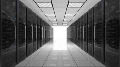 Looping animation of data center