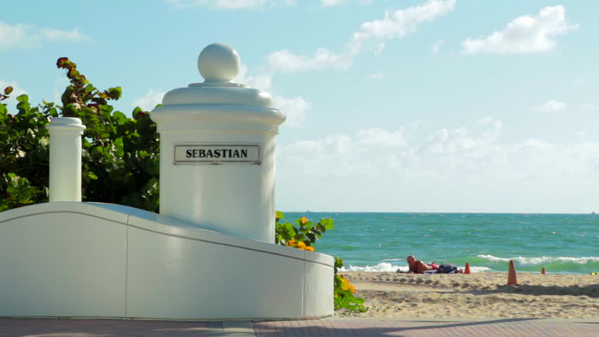 Sebastian Beach Fort Lauderdale Entrance Marker Stock Footage Video 7007479 Shutterstock