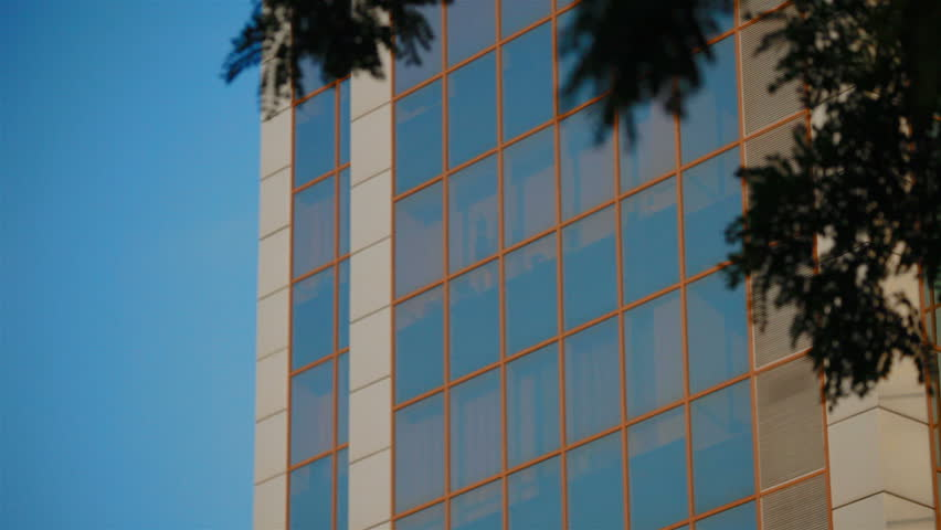 View office building from the bottom of the bushes  | Shutterstock HD Video #7014079
