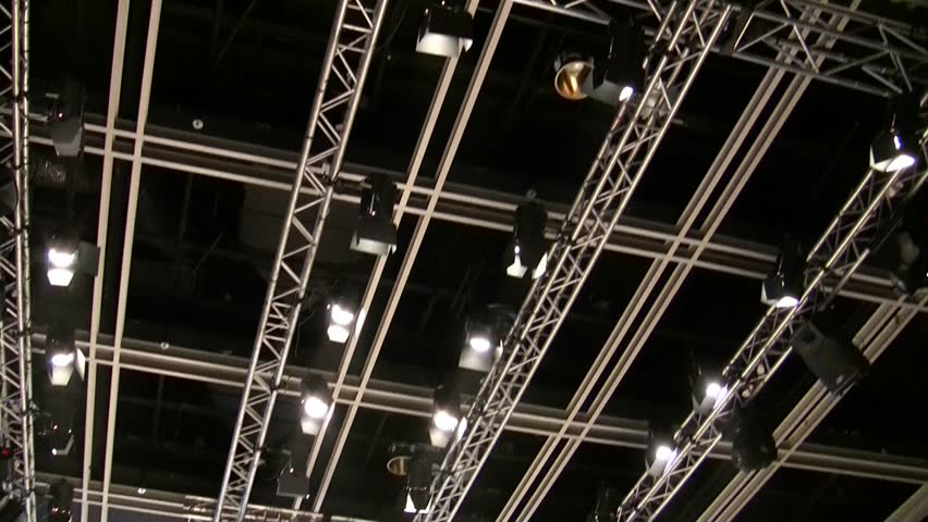 Ceiling of exhibition conference hall lights are ready for the show ceiling of exhibition conference hall lights are ready for the show hd stock video aloadofball Gallery