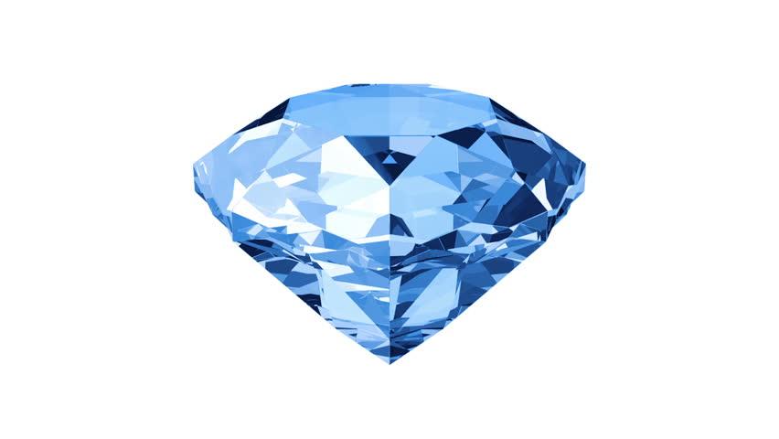 Animation Of Slowly Rotation Single Perfect Diamond With