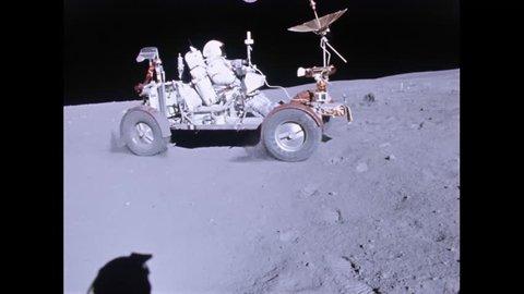 CIRCA 1970s - Apollo 11 lunar rover on the moon.