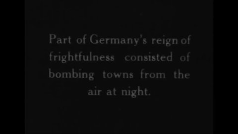 CIRCA 1940s - Germans use zeppelins in World War One to bomb towns at night.