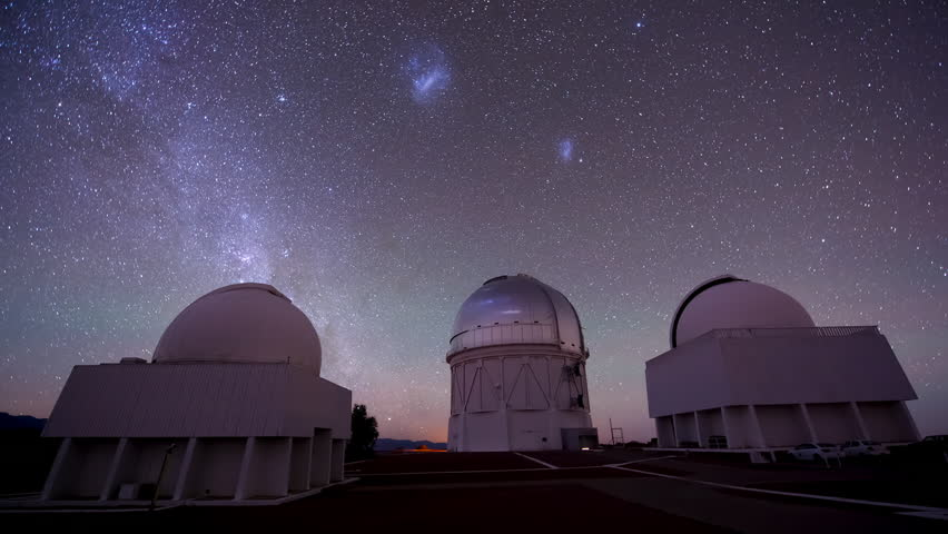 CIRCA 2010s - Beautiful timelapse shot of an observatory at night.