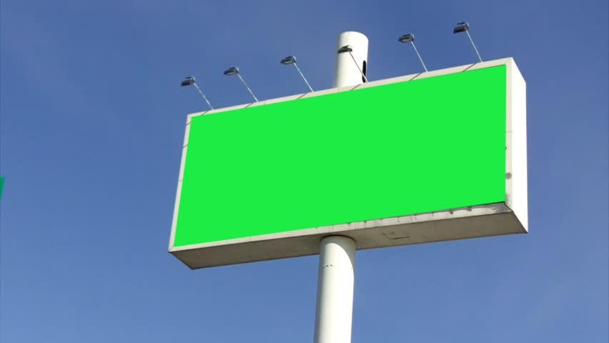 Big street billboard over blue sky | Shutterstock HD Video #712459