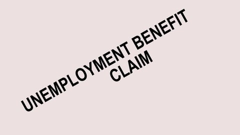 animation of Unemployment Benefit Claim Denied Stamp Showing Social Security Welfare Refused