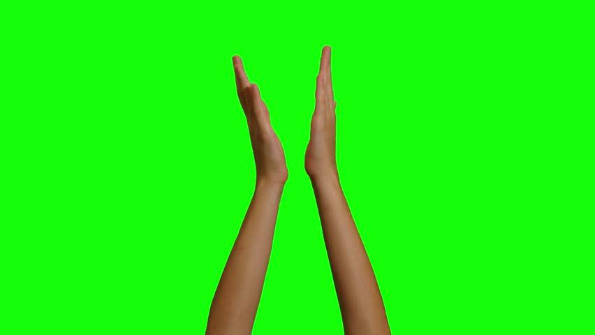 hands Applause  green screen