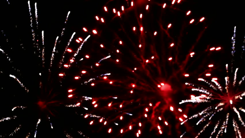 Magnificent fireworks of various colors in the New Year's Eve, Fireworks, Video clip | Shutterstock HD Video #7172599
