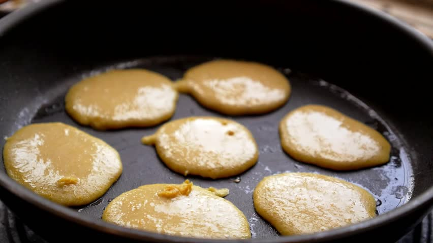 Stock video clip of homemade pancakes frizzling on the frying pan stock video clip of homemade pancakes frizzling on the frying pan shutterstock ccuart Image collections