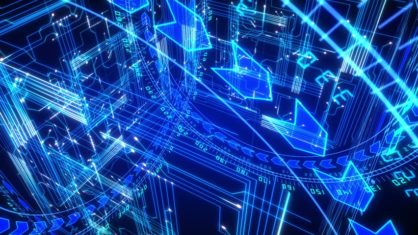 Data Tunnel Journey  Loopable Animation In 4k  Shot Inside