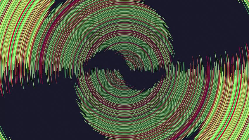 Big data infographics shown as random angle rotating circles. This is a series, check my portfolio for other color and style variations. | Shutterstock HD Video #7227319
