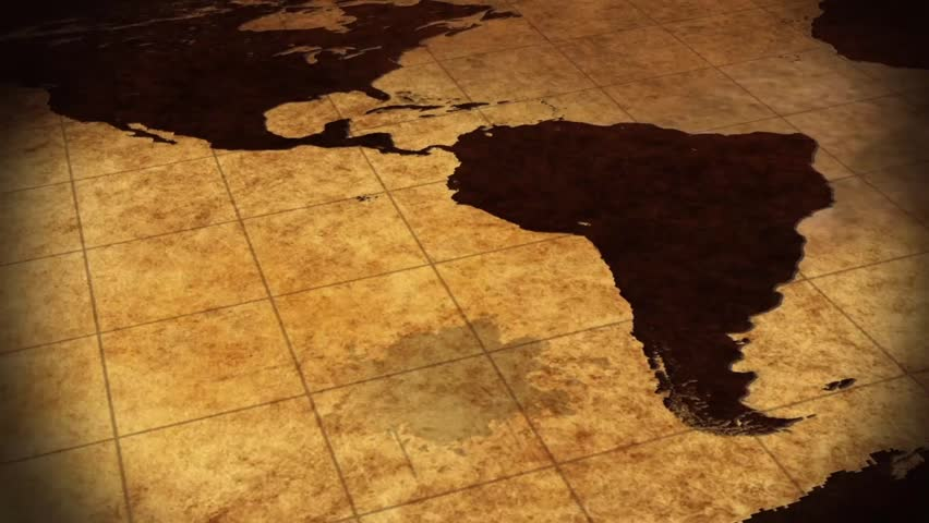 Vintage Map Of The World Background Animation  | Shutterstock HD Video #7234309