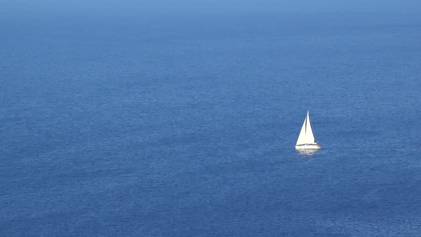 Perfect holiday, cruise with white boat sailing on endless turquoise sea | Shutterstock HD Video #7272739