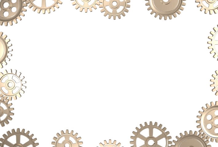 stock video of frame made by rotating gear wheels 728569 shutterstock. Black Bedroom Furniture Sets. Home Design Ideas