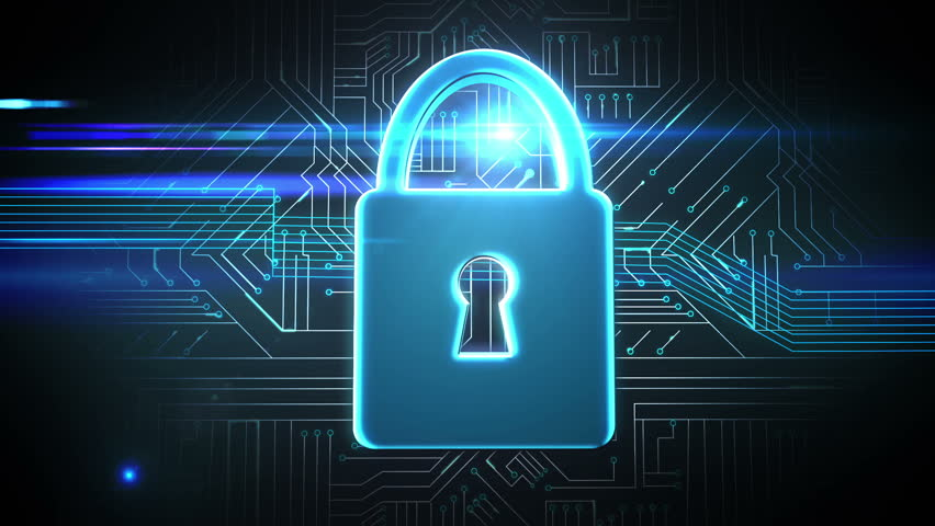 Digital Padlock Cyber Security Concept Stock Footage Video