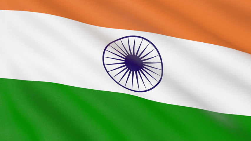 For Indian Flag Hd Animation: Indian Flag In The Wind. Part Of A Series. Stock Footage