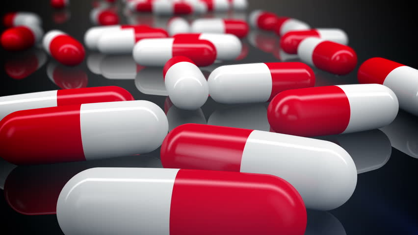A lot of medical pills. Tracking camera. Loopable. | Shutterstock HD Video #7355629
