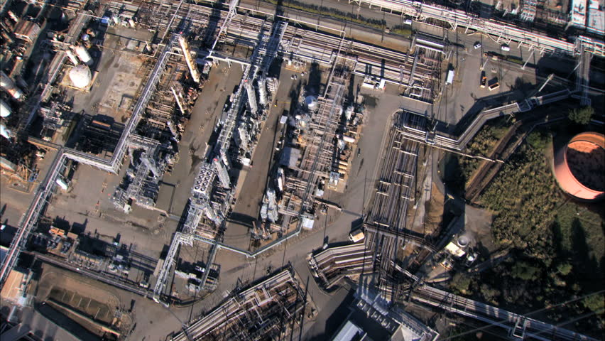 Aerial view of oil refinery plant | Shutterstock HD Video #740119