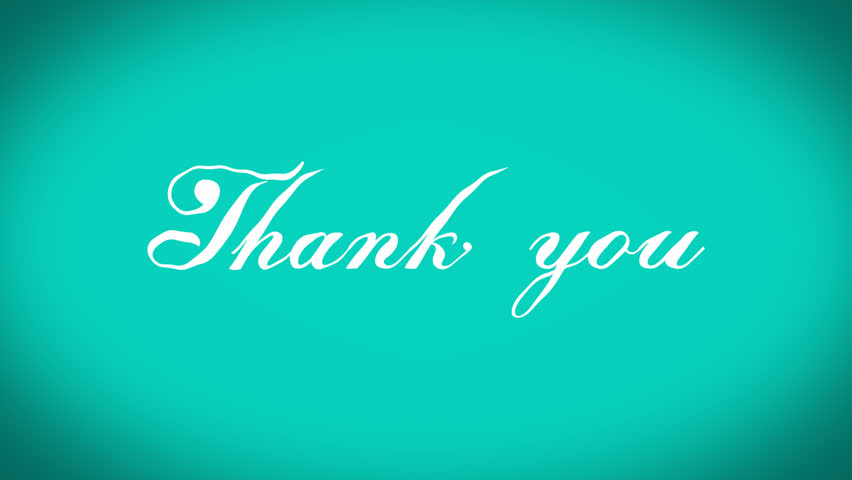 Written Thank You Stock Footage Video (100% Royalty-free