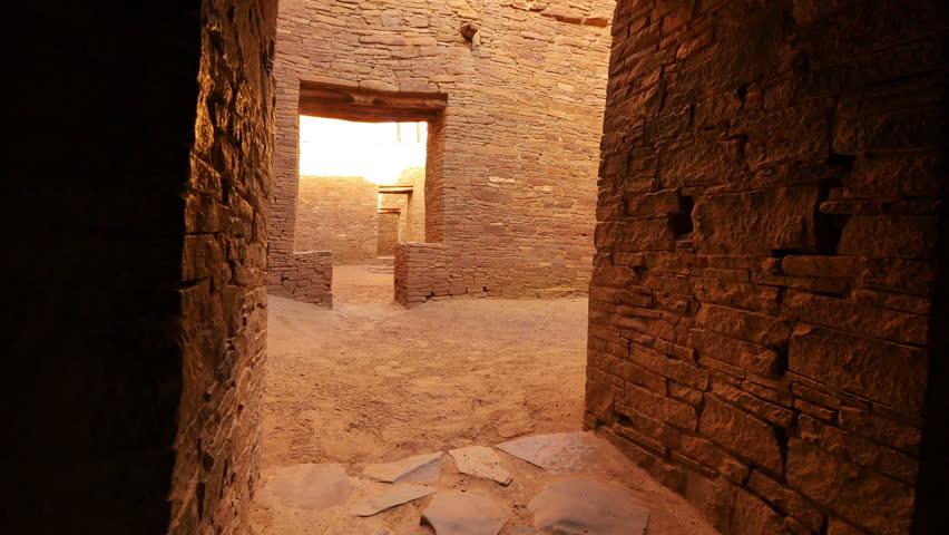 Chaco Culture 40 Zoom In Pueblo Bonito Native American Ruins | Shutterstock HD Video #7525279