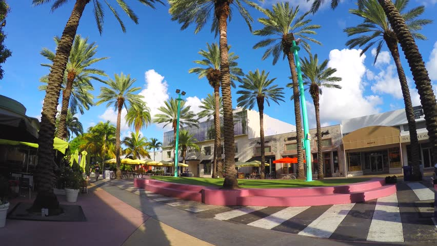 604c5bfc5fe MIAMI BEACH - OCTOBER 09  4k video footage of Lincoln Road Miami Beach. Lincoln  Road is an open air shopping promenade located in Miami Beach spanning from  ...