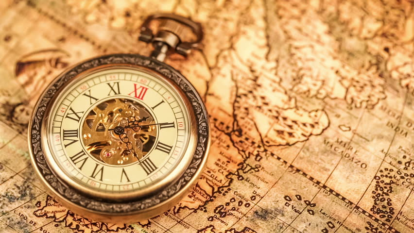 Vintage antique pocket watch on ancient world map in 1565 stock vintage antique pocket watch on ancient world map in 1565 stock footage video 7574149 shutterstock gumiabroncs Image collections