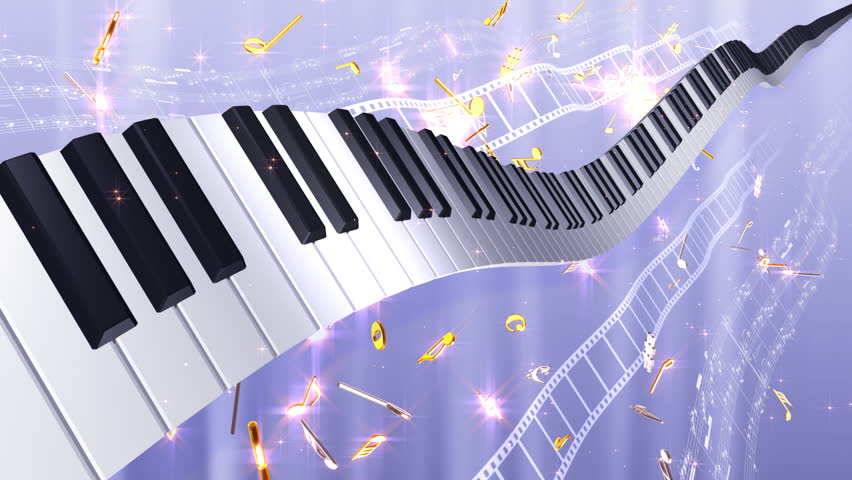 Music notes score and keyboard stock footage video 757672 - Cool piano backgrounds ...