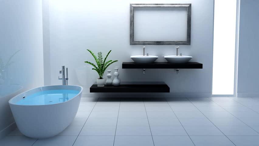 Stock Video Of Nice White Bathroom 758239 Shutterstock