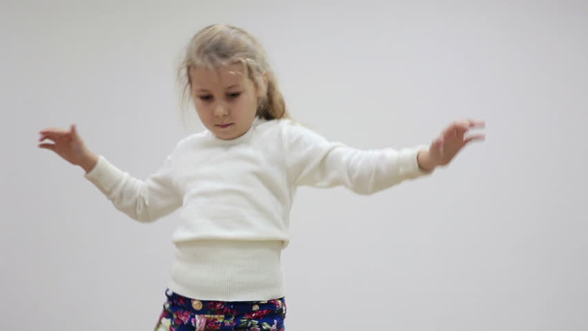 Dancing Active Little Girl In Stock Footage Video 100 Royalty Free