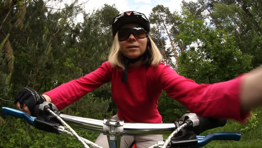 Female bike rider