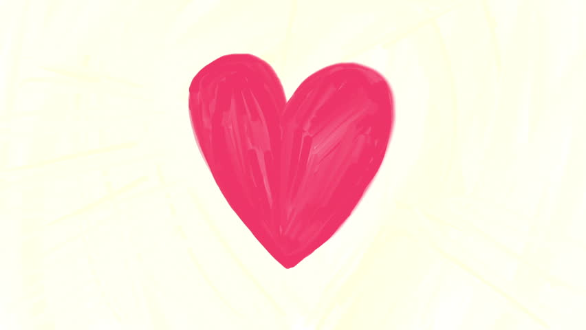 Beating Heart, hand drawn animation loop, can be used for Valentines or Mothers Day