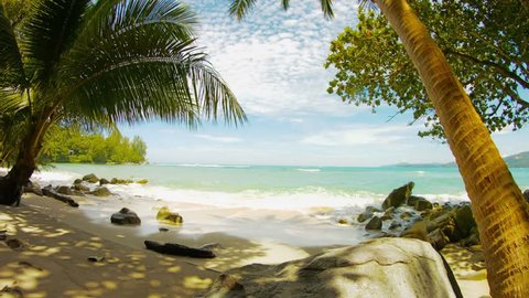 UHD video - Tropical beach without people. Thailand. Hua beach
