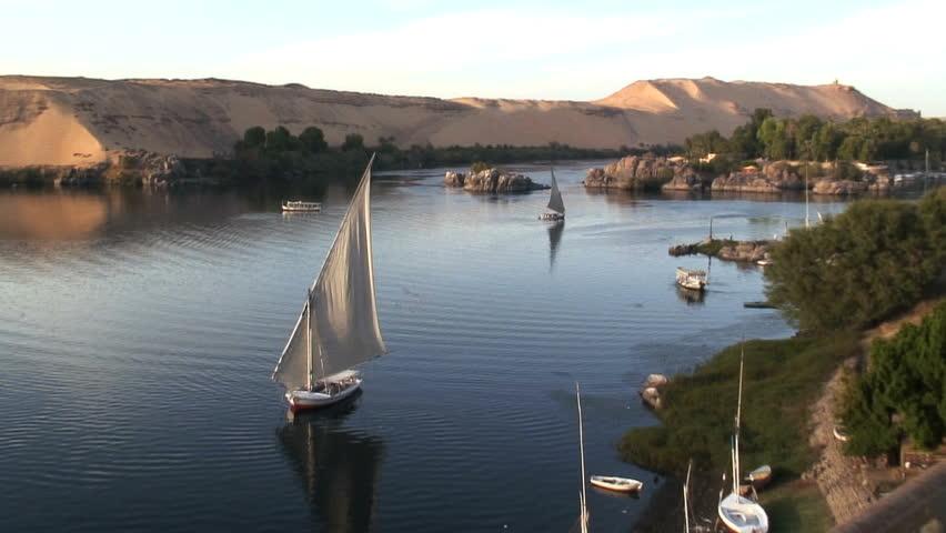 Felluca Sailing Boat Nile Egypt