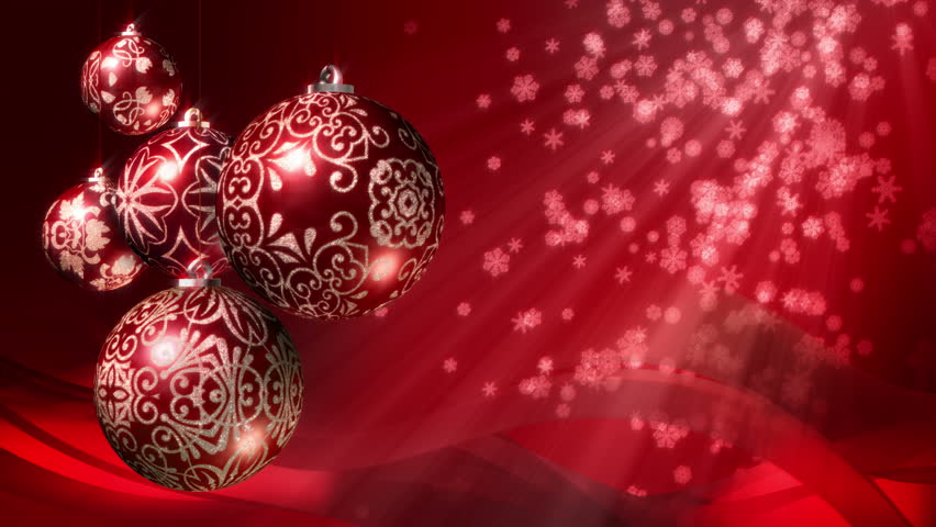 christmas background loop rotating christmas stock footage video 100 royalty free 7682539 shutterstock - Red And Silver Christmas Decorations