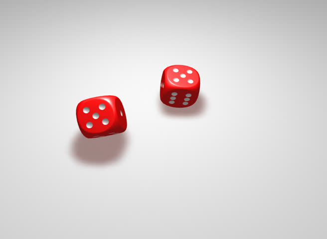 Two rolling dices giving 1 and 3 combination | Shutterstock HD Video #770029