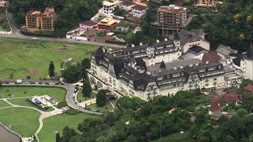 AERIAL- Quitandinha Palace, Petropolis, Brazil