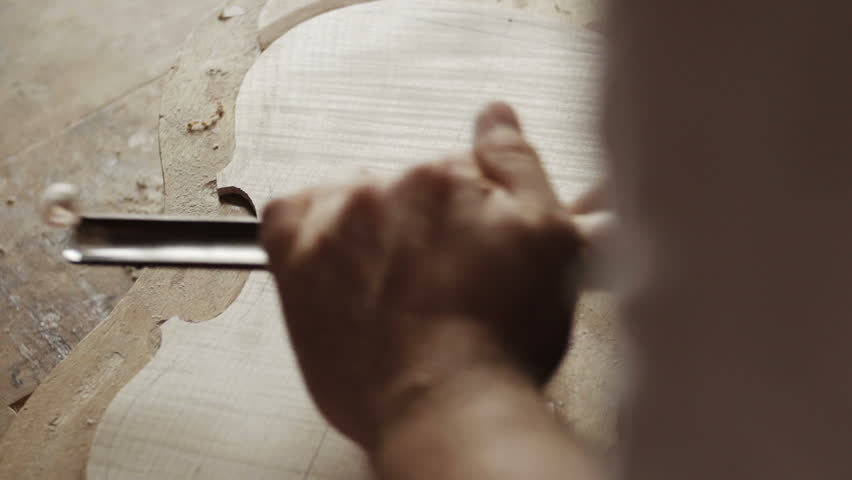 Making the violin - wood work | Shutterstock HD Video #7739059