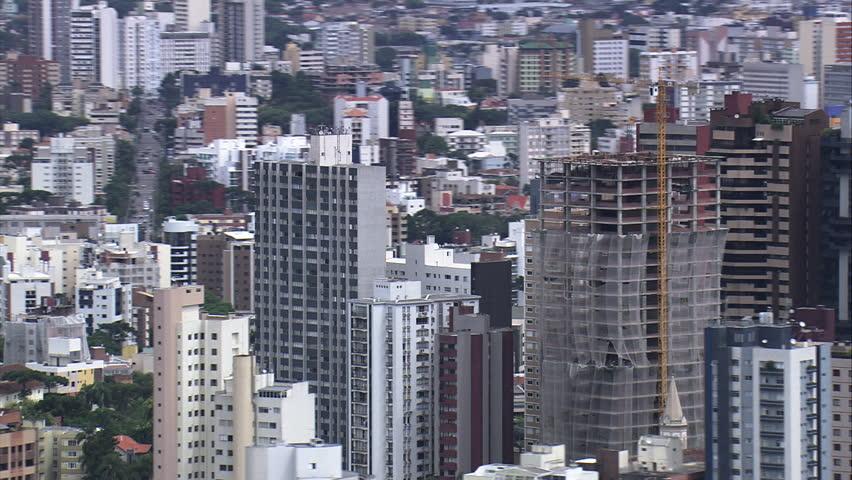 AERIAL- Curitiba downtown, Curitiba, Brazil | Shutterstock HD Video #7742299