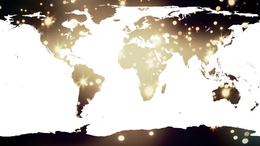 Loop animation of an illuminated world map a network of lines digital animation of world map against yellow shimmering background hd stock footage clip sciox Image collections