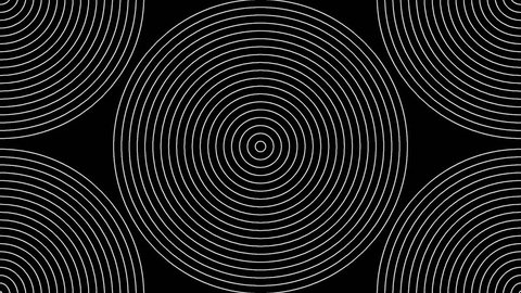 Loopable seamless cyclic animated sequence with expanding and/or collapsing geometric shapes. (Full HD, 1920x1080 10sec/30fps).