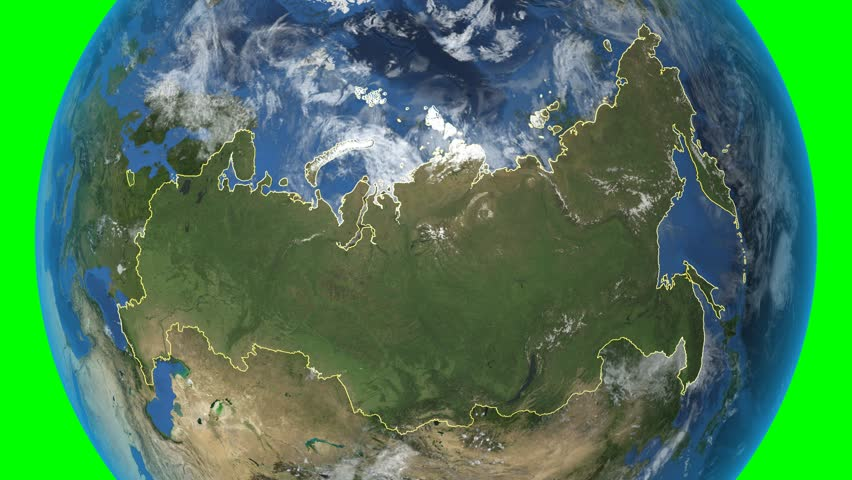 Russia 3d earth in space zoom in on russia contoured elements russia 3d earth in space zoom in on russia outlined on green elements gumiabroncs Images