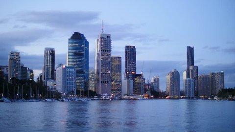 Queensland Brisbane city time lapse. Brisbane, Queensland, Australia. October 2014.