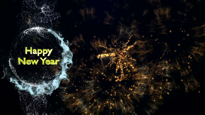 Happy New Year Text in Particles | Shutterstock HD Video #7870579